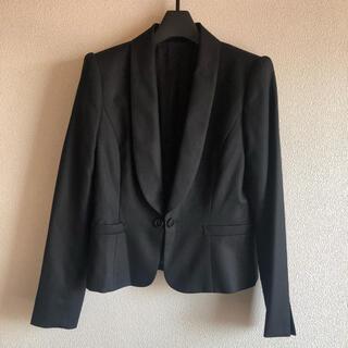 アナイ(ANAYI)のANAYI アナイ ウール シルク 絹 ブラック ジャケット 日本製 サイズ36(テーラードジャケット)