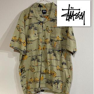 STUSSY - レア STUSSY オールドステューシー 90s アロハシャツ Lサイズ 総柄