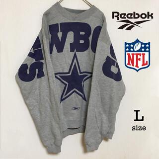 Reebok - リーボック NFL cowboys(カウボーイズ) スウェット デカロゴ  L