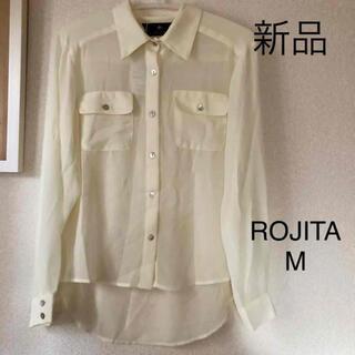ロジータ(ROJITA)の新品未使用 タグ付き ROJITA シャツ ブラウス Mサイズ クリーム色(シャツ/ブラウス(長袖/七分))