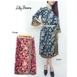 Lily Brown - リリーブラウン チェルシープリーツスカート スカート ピンク スナイデル