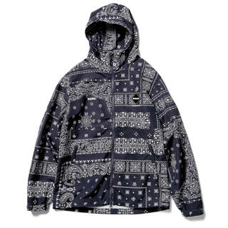 F.C.R.B. - FCRB BANDANA NYLON HOODED BLLOUSON NAVY