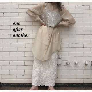 one after another NICE CLAUP - 新品 one after another ゴブランビスチェ付シャツ
