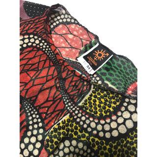 ジャンポールゴルチエ(Jean-Paul GAULTIER)の[未使用]ゴルチエ イタリア製プリントノースリーブドレス (ロングワンピース/マキシワンピース)