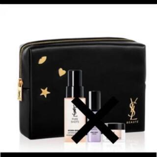 Yves Saint Laurent Beaute - イヴ・サンローラン ポーチ ブラック ノベルティ 非売品 ロゴ 新品 チャーム