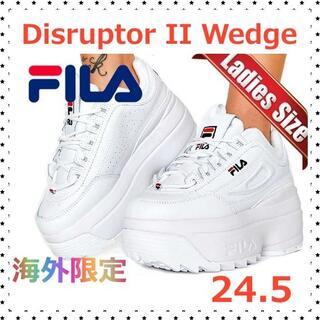 FILA - 超厚底FILA フィラ Disruptor II Wedge 24.5