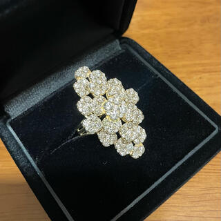 天然ダイヤモンド4.00ct リング K18YG 12号