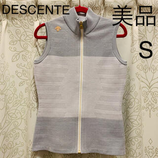 DESCENTE - デサントゴルフ メランジニットベスト S  美品 レディース