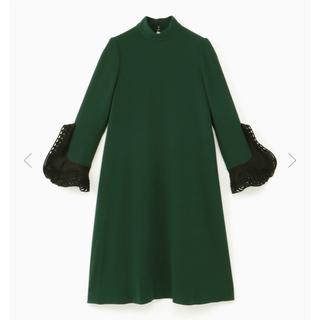 mame - 新品 ♡ mame マメ ベルスリーブ ドレス グリーン size1