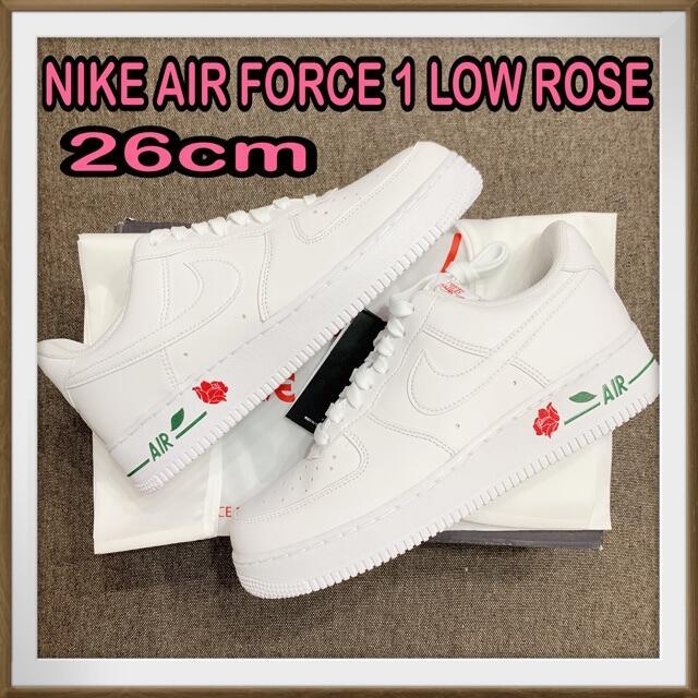 NIKE(ナイキ)の26cm NIKE AIR FORCE 1 エアフォース1 ローズ バッグ付き  メンズの靴/シューズ(スニーカー)の商品写真