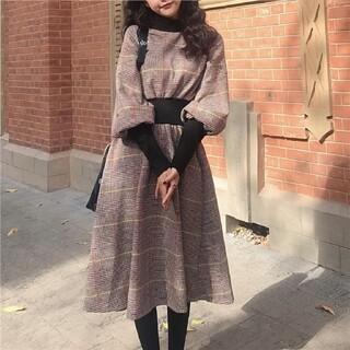 ZARA - 韓国ファッション 人気の格子 ワンピース チェック柄 レディース  即日発送