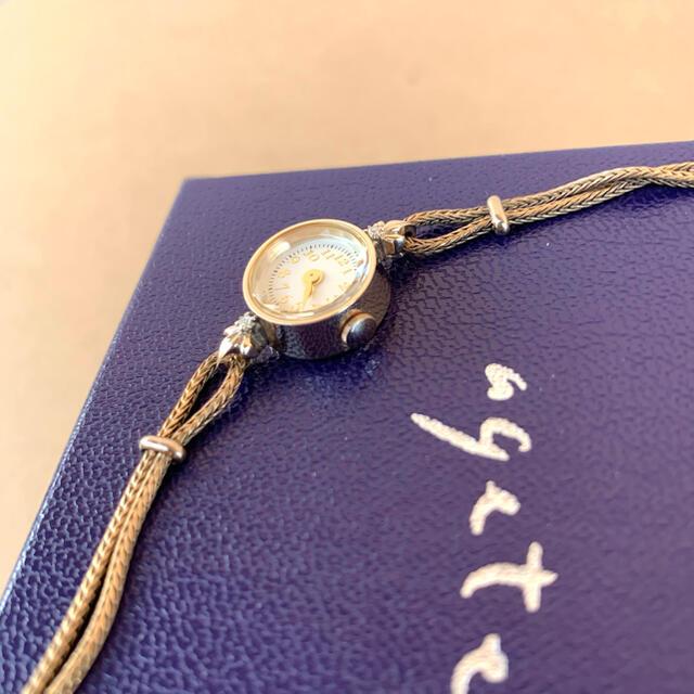 agete(アガット)のagete 腕時計 ダイヤ ゴールド 大人気 ラウンド レディースのファッション小物(腕時計)の商品写真