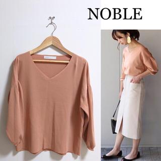 Noble - 【美品】NOBLE 春色♪タックボリュームスリーブプルオーバー  ノーブル