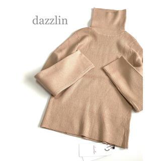 dazzlin - 新品 dazzlin リブタートルニット 薄手 ベージュ