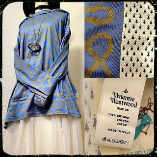 Vivienne Westwood - 新品・Worlds end限定・Squiggleshirt(Blue×Gold)