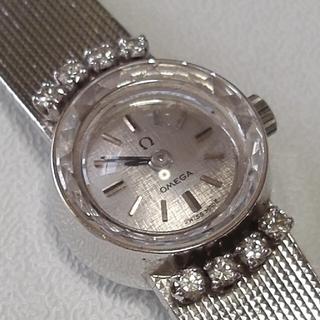 オメガ(OMEGA)のオメガカットガラス ホワイトゴールド無垢(腕時計)