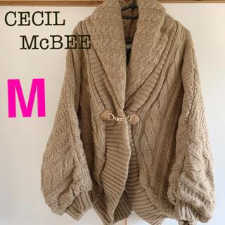 CECIL McBEE - セシルマクビー ニット ポンチョ コート M