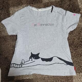 しまむら - 猫 半袖 Tシャツ トップス NYANKODO LL