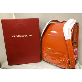 OLIVEdesOLIVE - 【新品】オリーブ デ オリーブ フルールフィーユ ランドセル ダークオレンジ