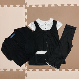 ニシマツヤ(西松屋)の冠婚葬祭 フォーマル ワンピース カーディガン スパッツ 黒(ドレス/フォーマル)