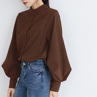 Mila Owen - 【新品】バルーンスリーブスタンドカラーシャツ