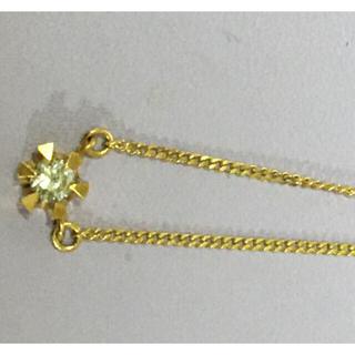 K18 一粒ダイヤ 爪立て ネックレス(ネックレス)