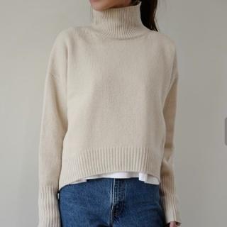 Drawer - gypsohila HighNeck Knit ButterMilk