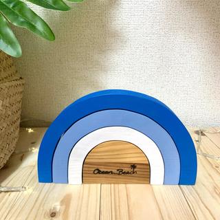 ロンハーマン(Ron Herman)の虹の積木★ブルー(置物)