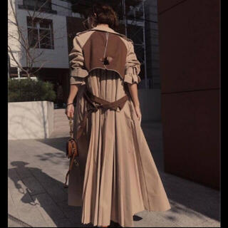Ameri VINTAGE - Ameri VINTAGE VARIOUS BACK PLEATS TRENCH