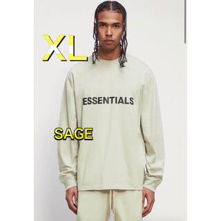 フィアオブゴッド(FEAR OF GOD)のFOG Essentials エッセンシャルズ ロンT SAGE グリーン XL(Tシャツ/カットソー(七分/長袖))