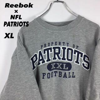 Reebok - 古着 希少 NFL アメフト ペイトリオッツ スウェット オーバーサイズ XL