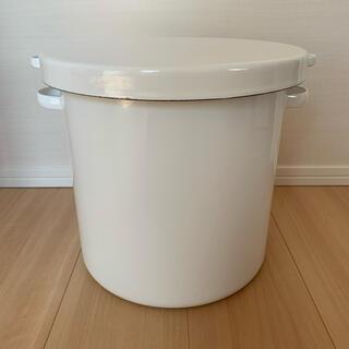野田琺瑯 - 野田琺瑯ラウンドストッカー27cmWRSー27ホワイト白色ホーロー保存容器