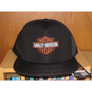 ハーレーダビッドソン(Harley Davidson)の【お買い得】ハーレーキャップ(メッシュ・フラットキャップ・HDロゴ)★黒★(キャップ)