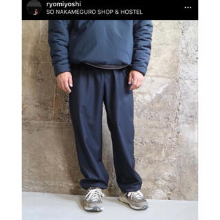 1LDK SELECT - SO  ORIGINAL CORDURA WOOL TRACK PANTS