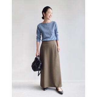 IENA - IENA ライトツイードスカート 34 カーキ