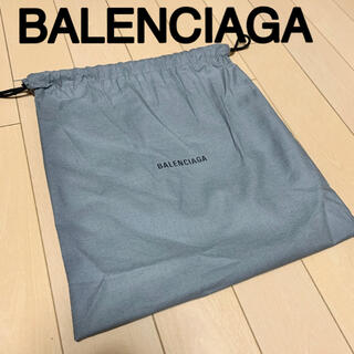 Balenciaga - バレンシアガ 保存袋 BALENCIAGA 巾着袋 ロゴ グレー