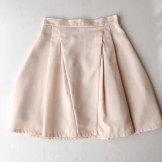 Apuweiser-riche - ノーブランド ピンクベージュ ピンク 膝丈 ひざ丈スカート フレア Aライン