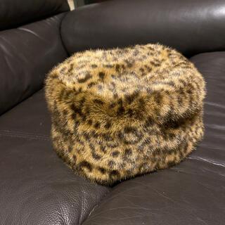 レイビームス(Ray BEAMS)のレオパード柄ファー 帽子(ハンチング/ベレー帽)