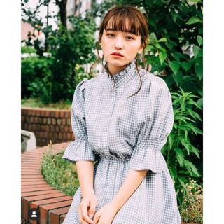 メリージェニー(merry jenny)のLEBECCA boutique 更に歩めるギンガムチェックワンピース(ロングワンピース/マキシワンピース)