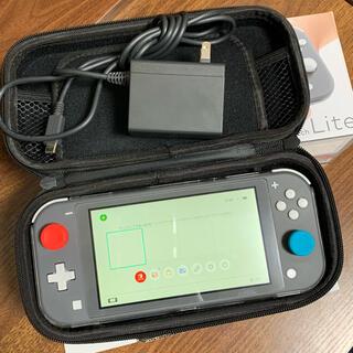 Nintendo Switch - 任天堂 スイッチライト 本体 グレー 保証期間有り