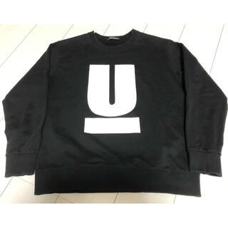 UNDERCOVER - UNDERCOVER アンダーカバー  名作U字スウェット 黒・Lサイズ