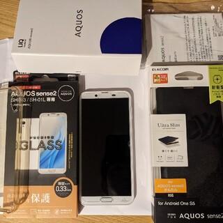 アクオス(AQUOS)のAQUOS sense2 シルキーホワイト 32 GBshv43 (スマートフォン本体)