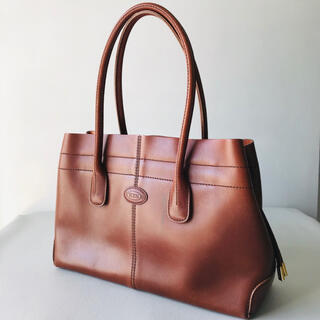 TOD'S - tods d-bag トッズ ディーバッグ ハンドバッグ スムースレザー 茶色