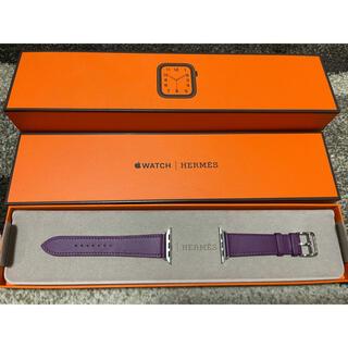 アップル(Apple)の新品 HERMES レザー ベルト アネモネ Apple  Watch(腕時計)