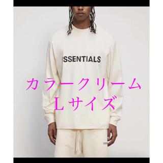 FEAR OF GOD - FOG ESSENTIALS エッセンシャルズ ロング Tシャツ クリーム L