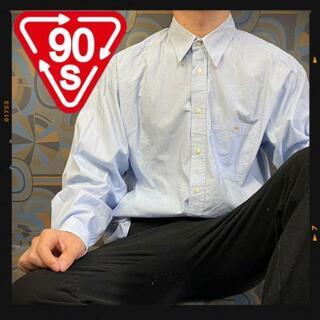 ラコステ(LACOSTE)のラコステ 90s ボタンダウンシャツ 水色 刺繍 ワンポイント 長袖シャツ(シャツ)