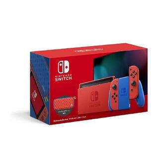 Nintendo Switch - 補償一年付き新品未開封Nintendo Switch 本体 マリオレッド×ブルー