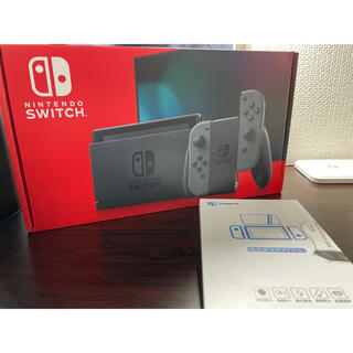 Nintendo Switch - switch グレー 本体 フィルム付き