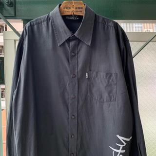 ART VINTAGE - 90s 黒シャツ 総柄シャツ オールドサーフ ストリート ワンポイント モード