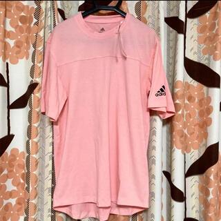 adidas - アディダス メンズ Tシャツ ピンク 半袖 トップス M レディース 未使用